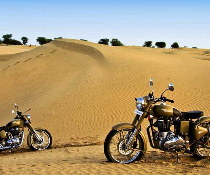 Antiquity of Rajasthan on Motorcycles